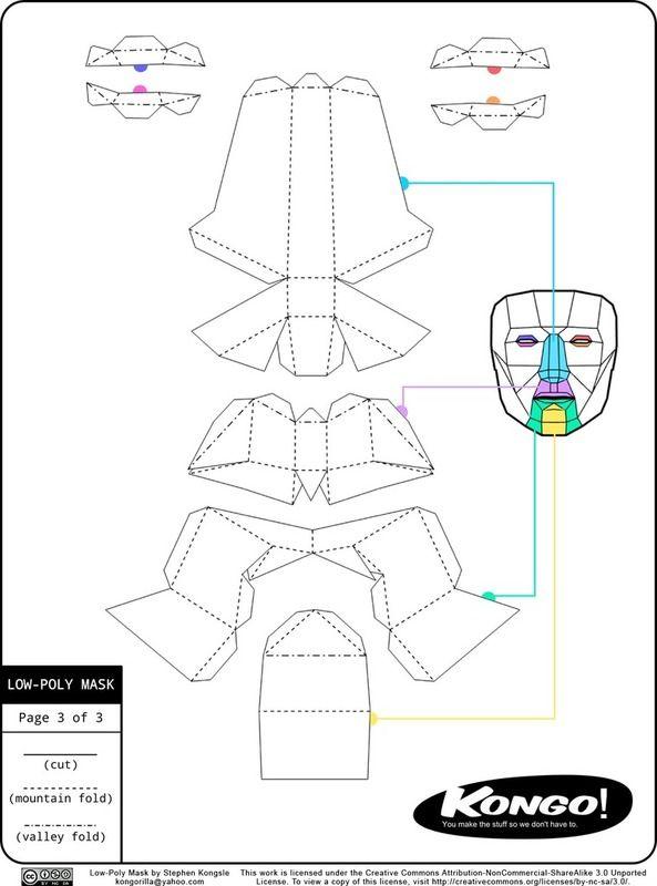 Imagen de la máscara bajo Poli - Thingiverse