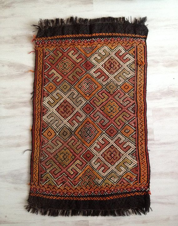 Kilim Rug Turkish Cicim Kilim Rug Wall Hanging Rug Wool
