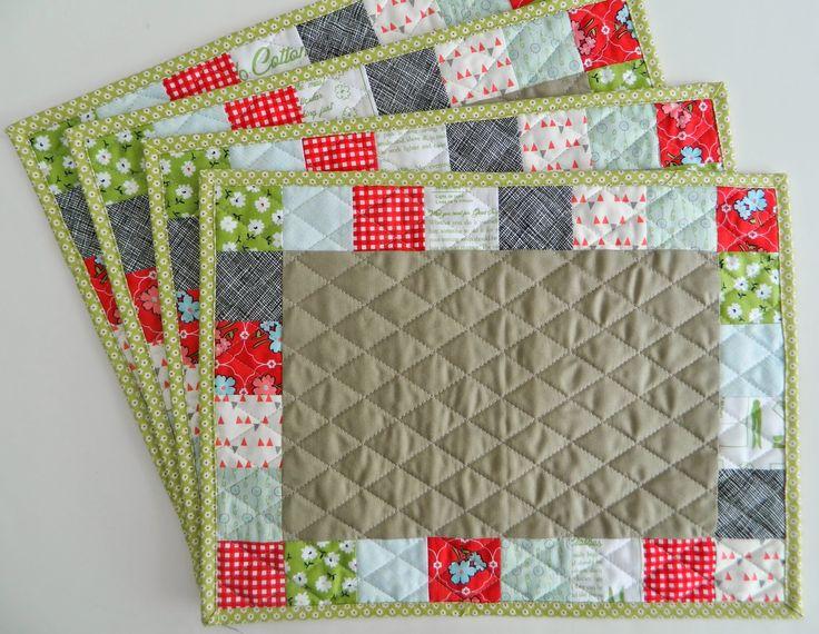 patchwork placemats by Svetlana @Elisabeth Sotak handmade