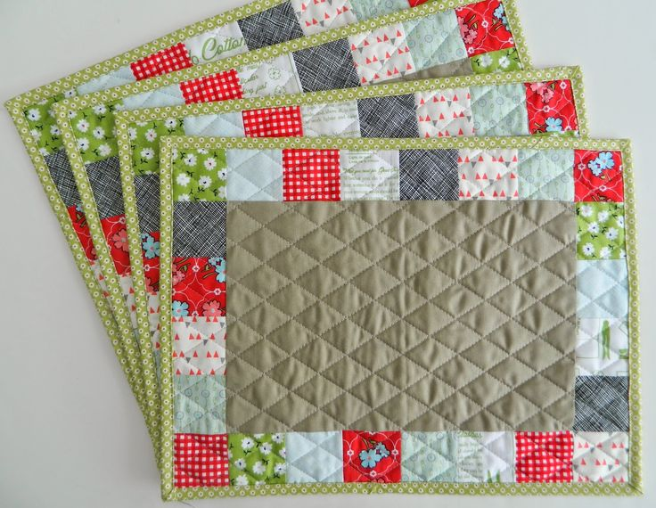 patchwork placemats (with link to tutorial)
