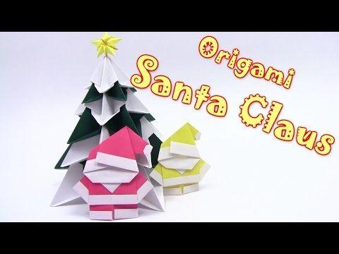Origami Christmas Santa Claus - Yakomoga Origami tutorial - YouTube