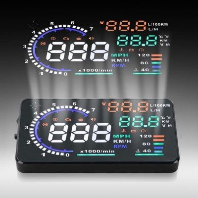 Just US$38.32 + free shipping, buy A8 5.5 inch OBD II Car HUD Head Up Display Windscreen Projector with Speed Warning RPM MPH online shopping at GearBest.com.