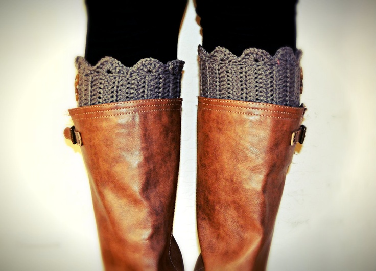 Boot Cuff Crochet Cuff with Buttons  YOU CHOOSE COLOR. $15.00, via Etsy.