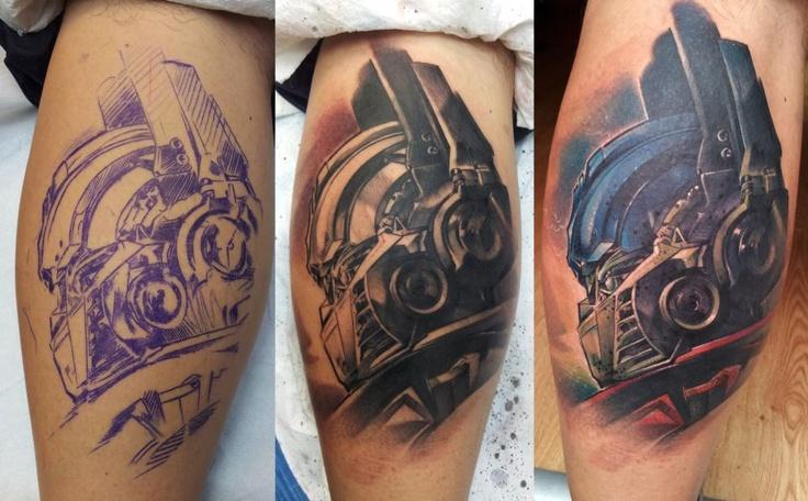 Transformers fans here? Here's one tattoo done at Skin Lab Tattoo, Prague. Czech Tattoo Scene. #tattoo #tattoos #ink