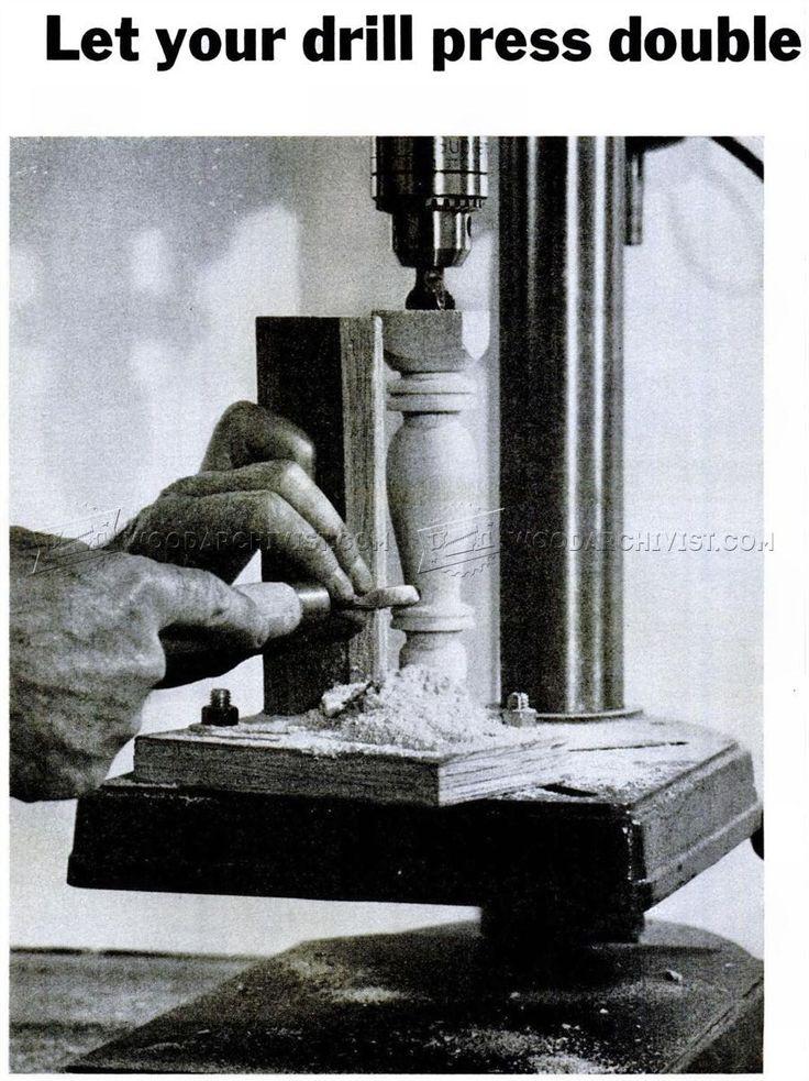 #3046 DIY Drill Press Lathe - Lathe