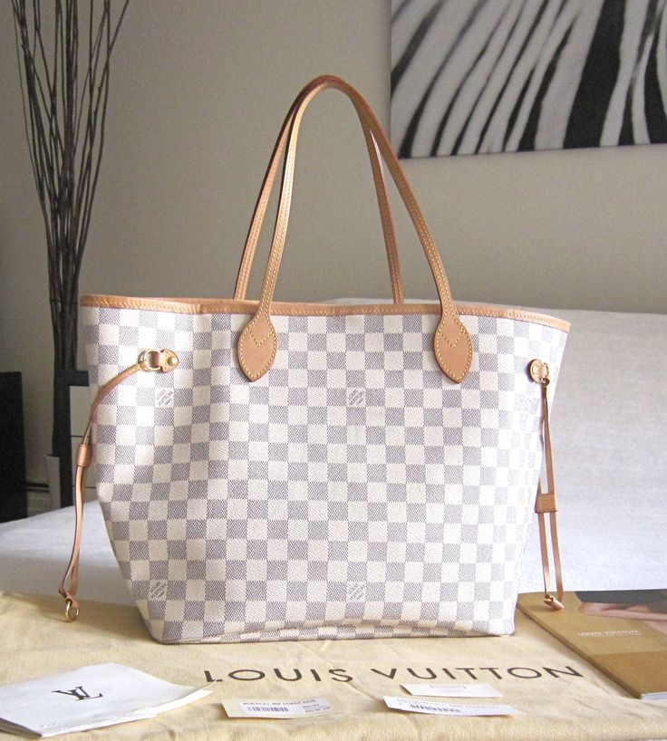 louis vuitton neverfull white My next birthday gift to myself!