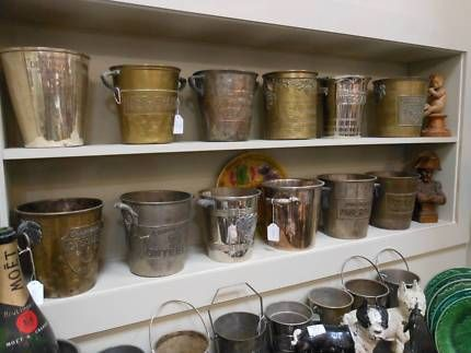 ANTIQUE & VINTAGE FRENCH CHAMPAGNE BUCKETS - BIG COLLECTION