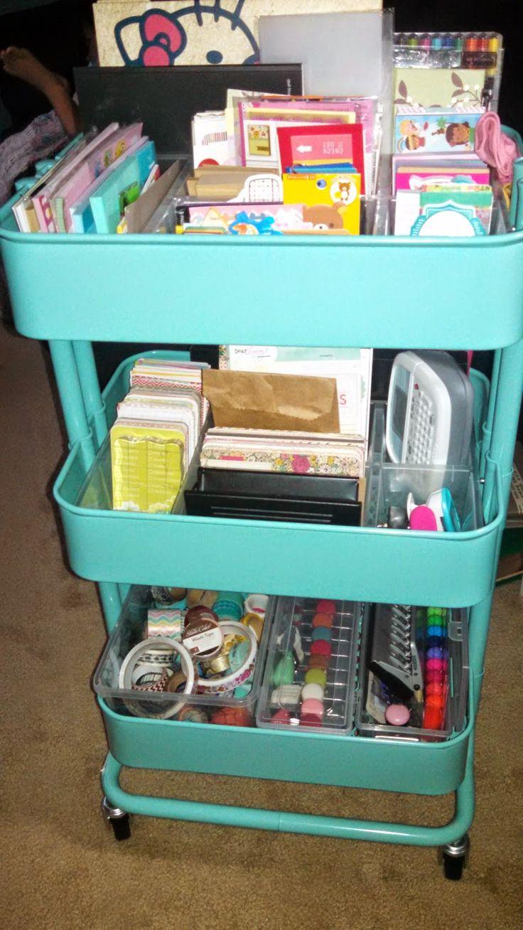 Scrapbook paper cart - Chic Paper Geek My Raskog Filofax Cart Planner Organization Set Up