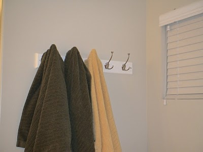 hooks instead of towel rods on another great organization blog: Becky's Organization Station