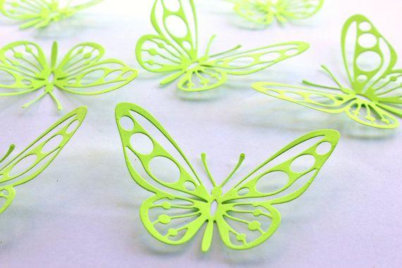 Radium Color Butterflies 3d Butterfly Wall Art by MyDreamDecors