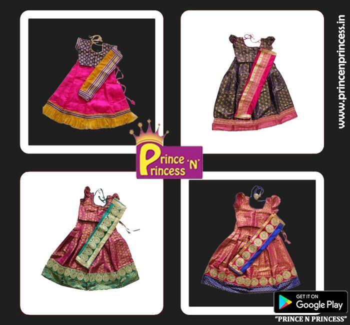 Kids Langa Voni #langaVoni Half saree from prince n princess