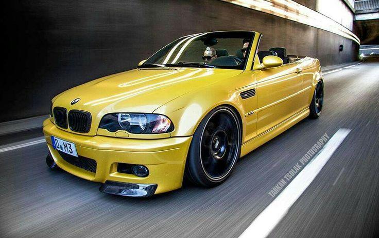 BMW E46 M3 cabrio yellow