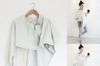 DIY-Anleitung: 3 IN 1 - Kimono   Stillschal   Poncho