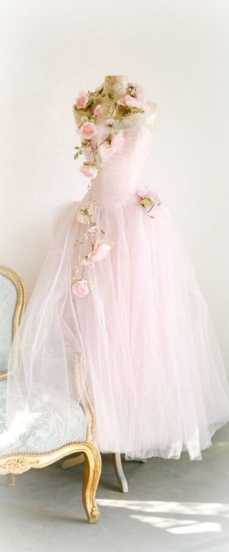 Modern Fairytale / Pink Fairy Book. Vintage, fairytale prom dress ~Debbie Orcutt ♡