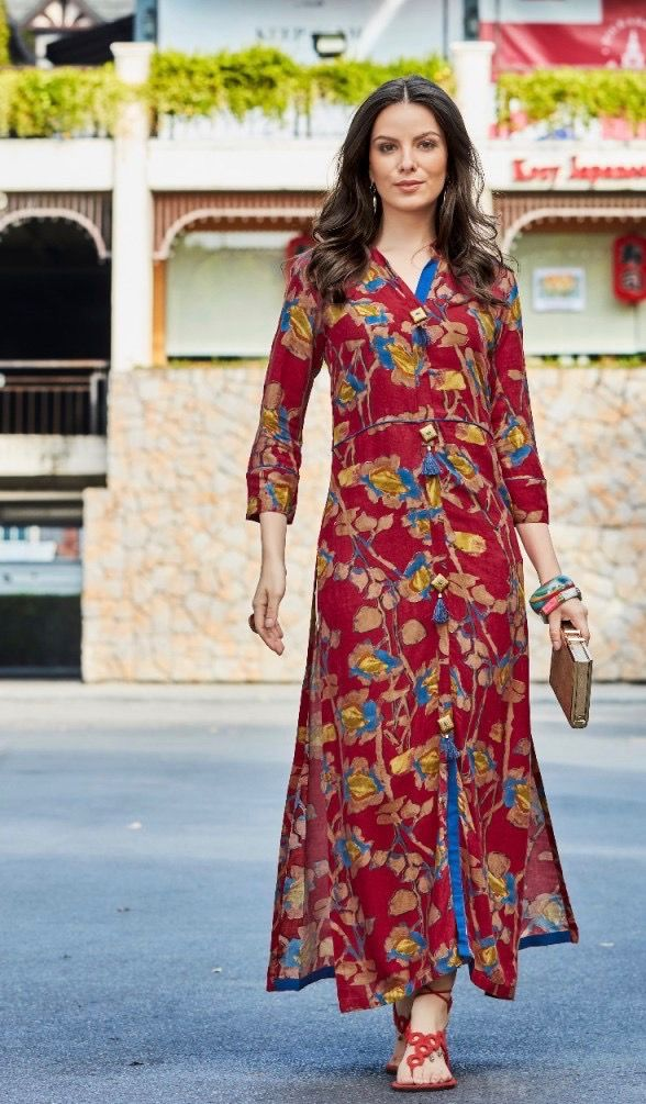 81c581fe1ef  colourful  digital  red  printdesign  rayon  kurti