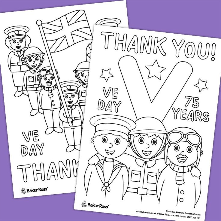 VE DAY Thank You Veterans Posters | Free Craft Ideas ...