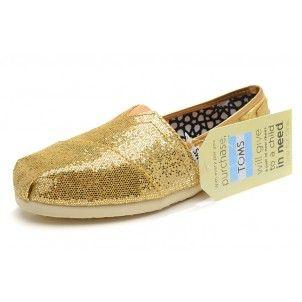 Gold Womens Glitter Classics