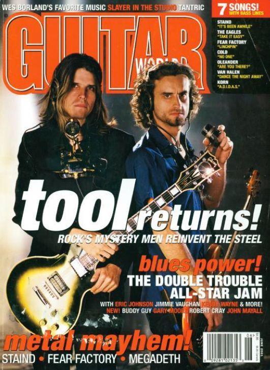 Adam Jones & Justin Chancellor - Tool Returns - Rock's Mystery Men Reinvent the Steel - Guitar World Magazine - June 2001
