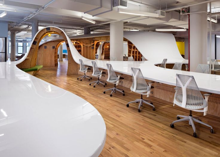 """Clive Wilkinson creates 330-metre-long """"super-table"""" for Barbarian Group offices"""