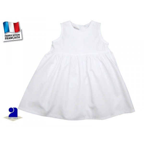 Robe blanche fille 12 mois