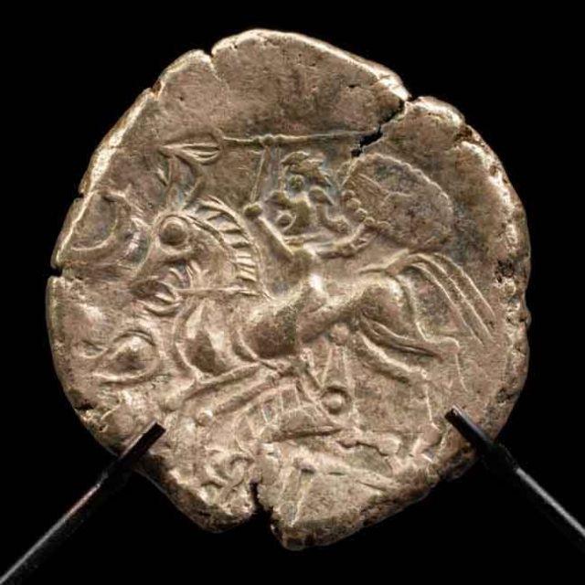 Statère d'électrum (or et argent), fin de l'âge du Fer, Laniscat, Côte d'Armor