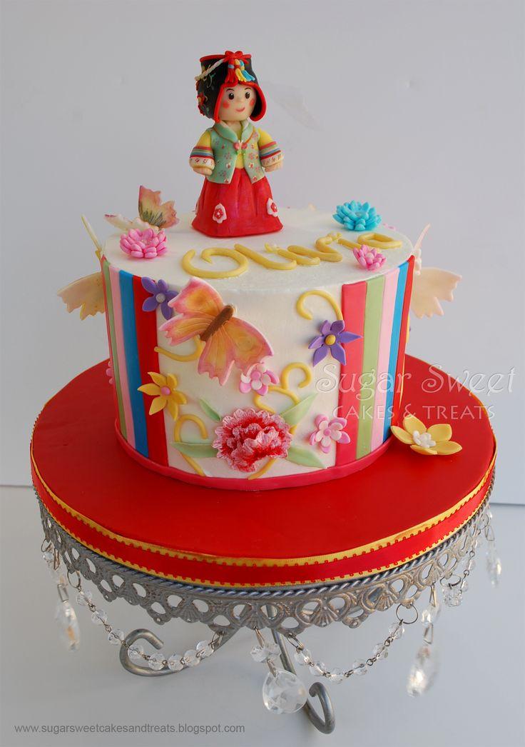 Traditional Korean 1st birthday, Dol, cake