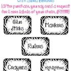 This set of 36 classroom supply labels are decorated with a zebra background and doodle frame.After purchasing this product, you may contact me w...$3.00
