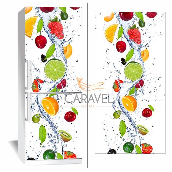 Αυτοκόλλητο Ψυγείου Φρούτα σε νερό