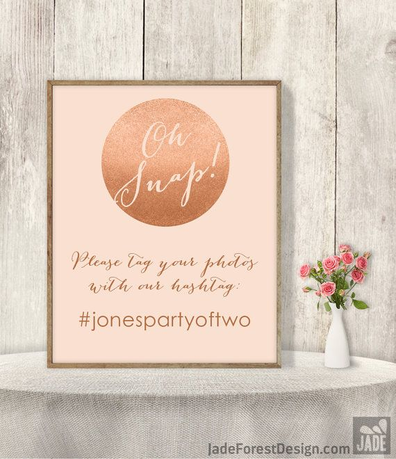 "♥ 10% OFF with coupon code ""PIN10"" ▷ Wedding Hashtag Sign DIY / Instagram Sign / by JadeForestDesign"