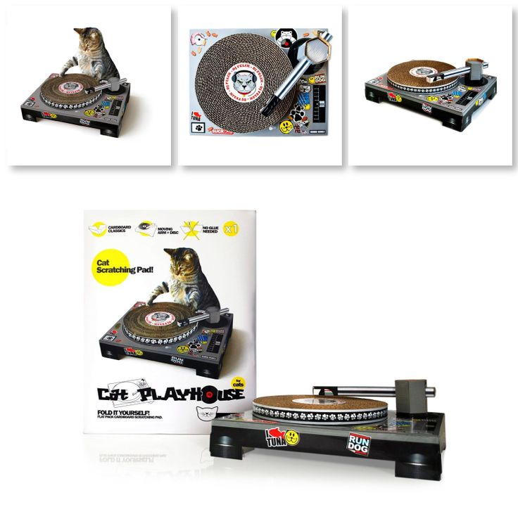 DJ Turntable For Cats Scratch Pad  Cats scratch furniture to exercise, mark their territory and just for sheer pleasure, so why not mix that natural instinct with a bit of fun? The Cat Scratch Turntable comes flat packed and is easy to assemble.   #Cool stuff on Amazon #DJ Turntable For Cats Scratch Pad