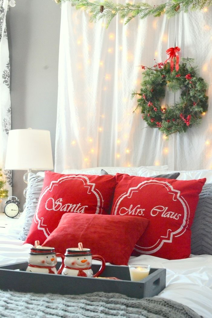 romantic christmas bedroom ad athomeforchristmas best 25 christmas bedroom decorations ideas on pinterest