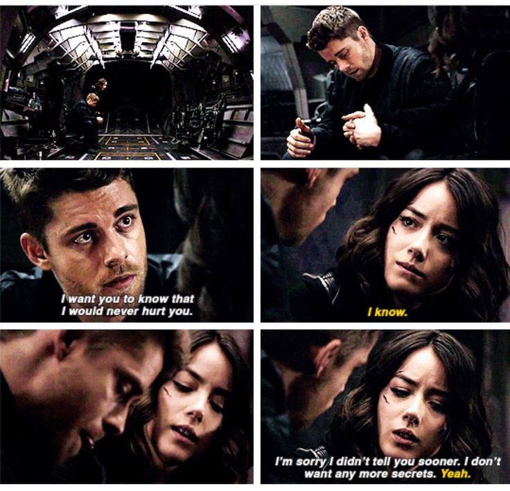 """""""I would never hurt you. I'm sorry I didn't tell you sooner. I don't want any more secrets"""" - Lincoln and Daisy #AgentsOfSHIELD"""