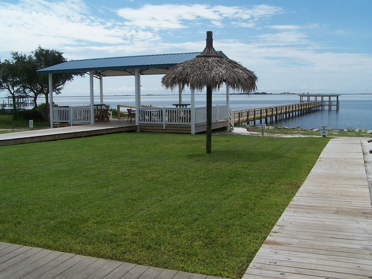 Pavilion And Pier At Emerald Beach Rv Park In Navarre Fl