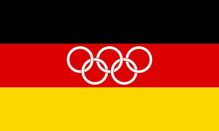 Drapeau de l'Équipe unifiée d'Allemagne (1960-1968)