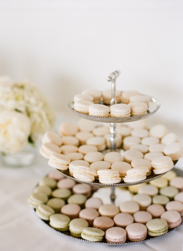 a pastel palette of macarons