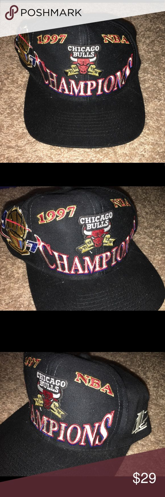 NBA 1997 champions Chicago Bulls hat NWOT Thank you for viewing my listing, for sale is a vintage, 1997, NBA Chicago Bulls, champions, logo athletic brand, snap back hat. Item is brand new, I am the original owner. Hat has never been worn, but the hat does not have any tags either.  If you have any questions or would like additional photos please feel free to ask. logo athletic Accessories Hats
