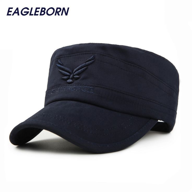 Genuine US AIR FORCE Breathable Cotton Army Captain Tactical hats for men Vintage Flat Roof Baseball Caps