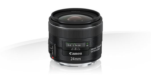 Objectif grand angle canon EF 24mm f/2.8 IS USM