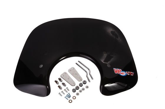 Vespa PX T5 LML CRUISER FLYSCREEN - SMOKED with all fixings & brackets