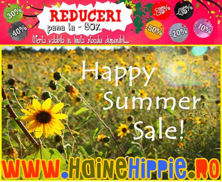 Reduceri masive la colectia de vara Haine Hippie! www.hainehippie.ro/6-promotii