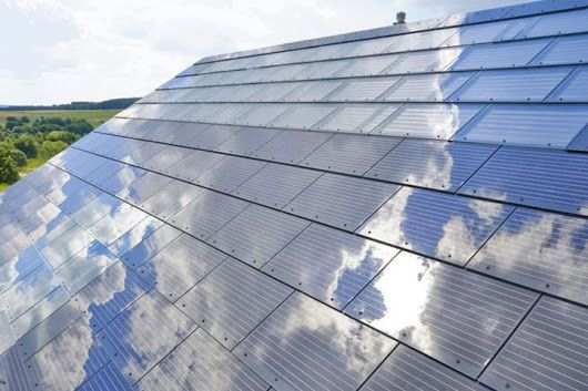 Made from tempered glass, Tesla's low-cost solar roofing shingles are slated for a widespread rollout at the end of 2017... #solar #roofing http://www.q... - Al Mendoza - Google+