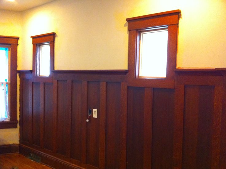 Dark stained wainscoting dining room dining room for Dining room wainscoting