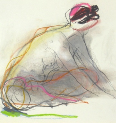cross legged pastel 25 x 25 cm jane lewis