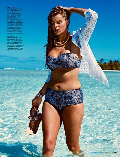 styleite:    Robyn Lawley: Vogue Italia cover girl, lingerie spokesmodel, first-ever plus size Ralph Lauren model, and now star of a Cosmopolitan swim spread! Girl is on fire.