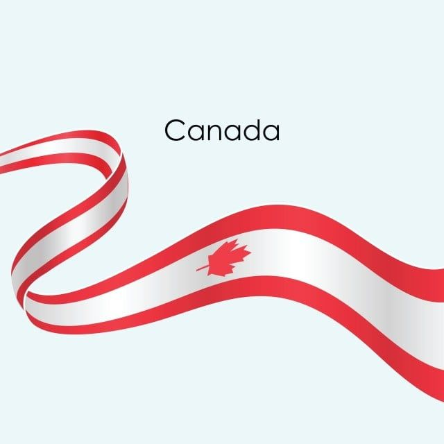 Canada Ribbon Flag Vector Isolate On White Background Ribbon Canada Flag Png And Vector With Transparent Background For Free Download Di 2020