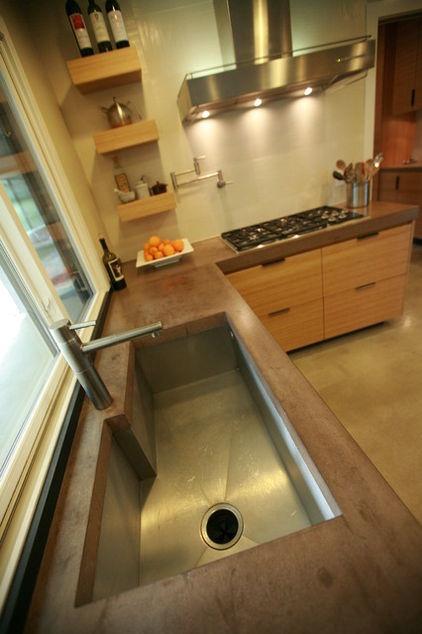 Kitchen Counters Kitchens Concrete top♡