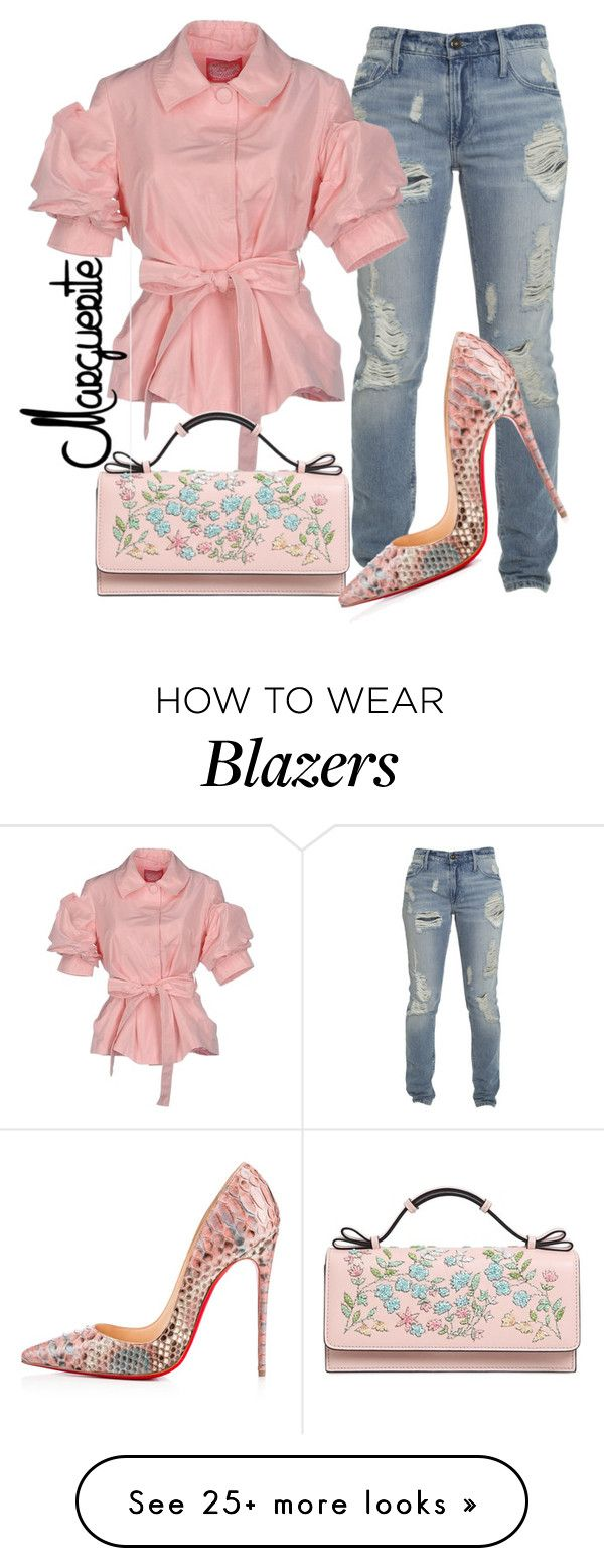 Pretty Casual by margueritela on Polyvore featuring Blugirl, RED Valentino and Christian Louboutin