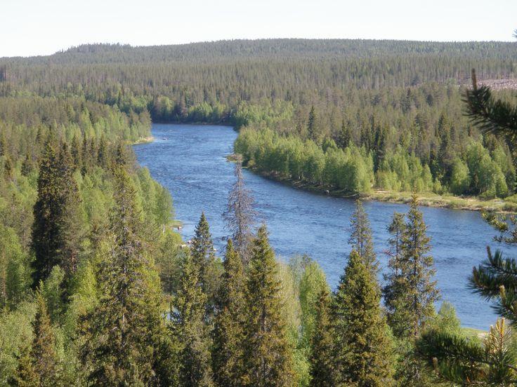 The river Iijoki, Taivalkoski, Lapland, Finland www.visittaivalkoski.fi