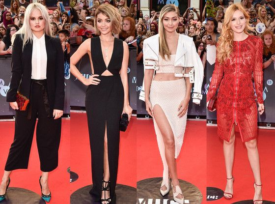 Best & Worst Dressed at the 2015 MuchMusic Video Awards: Gigi Hadid, Bella Thorne & More!  Best Dressed, Debby Ryan, Sarah Hyland, Gigi Hadid, Bella Thorne, 2015 MuchMusic Video Awards