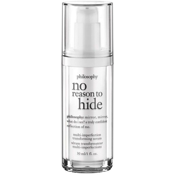 Women's Philosophy 'No Reason To Hide' Multi-Imperfection Transforming... ($68) ❤ liked on Polyvore featuring beauty products, skincare, face care, filler, makeup, no color, philosophy skincare and philosophy skin care